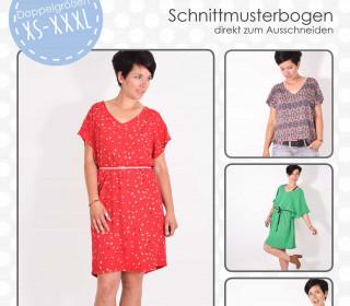 Schnittmuster - Papillon - Shirt - Kleid - XS-XXXL - lenipepunkt