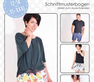Schnittmuster - Shorty - Hose - 32-58 - XS-XXXL - lenipepunkt