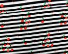 Canvas - Cherry Stripes - schwarz/weiß - Verena Münstermann - abby and me