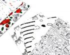 Jersey - Zauberstoff - Zebras - Palmen - Weiß