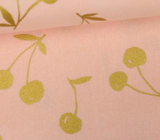 Feste Baumwolle - Cherry - Kirschen - Simply Gold - Kokka - Rosa