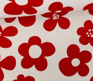 Feste Baumwolle - Blumen - Scandianavian Desing - Kokka - Cremeweiß
