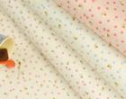 Feste Baumwolle - Blümchen - Bienen - Kokka - Natur/Pink