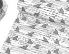 Sommersweat - Shark Fins - Black and White Collection - Andrea Lauren - Weiß