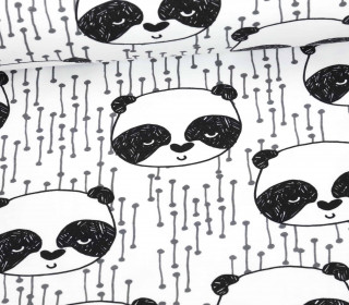 Sommersweat - Panda - Black and White Collection - Andrea Lauren - Weiß