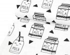 Sommersweat - We love Milk - Black and White Collection - Andrea Lauren - Weiß