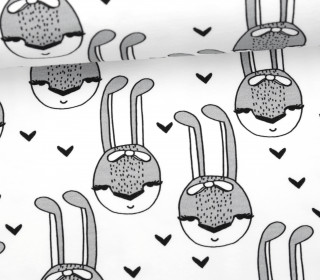 Sommersweat - The Rabbit - Black and White Collection - Andrea Lauren - Weiß