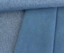 Softshell - Fleece - Uni - Melange - Blau
