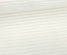 Nicki in Cordoptik - Weich - Elastisch - Uni - Weiß