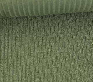 Strickstoff - Grobstrick - Elastisch - Uni - Olivgrün
