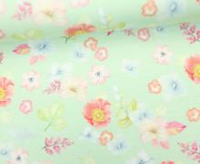 Jersey - Blumenliebe - Blumen - Blüten - Zartmint - Living for Fabrics