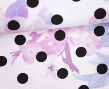 Sommersweat - GOTS - Bloomy Polka Dots - Punkte - weiß - abby and me