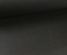 Kunstleder - Fashionstoff - Nappa - Uni - 140cm - Schwarz