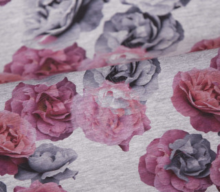 Sommersweat - Roses of Romance - grau - meliert - abby and me