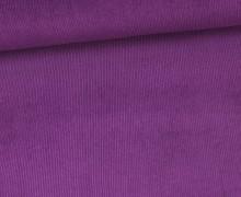 Stretchcord - Feincord - elastischer Babycord - Uni - Lila