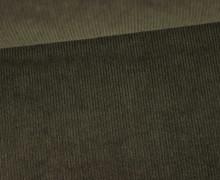 Stretchcord - Feincord - elastischer Babycord - Uni - Olivgrün