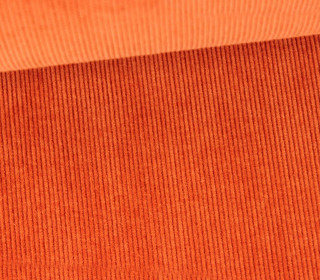 Stretchcord - Feincord - elastischer Babycord - Uni - Orange