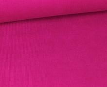 Stretchcord - Feincord - elastischer Babycord - Uni - Pink