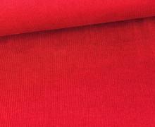 Stretchcord - Feincord - elastischer Babycord - Uni - Rot