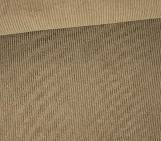 Stretchcord - Feincord - elastischer Babycord - Uni - Dunkelbeige