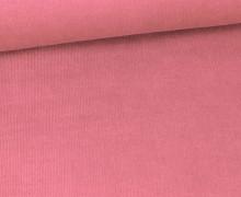 Stretchcord - Feincord - elastischer Babycord - Uni - Altrosa