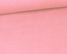 Stretchcord - Feincord - elastischer Babycord - Uni - Rosa