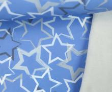 Softshell - Fleece - Sterne - Stars - Taubenblau