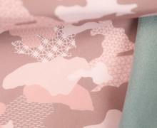 Softshell - Fleece - Camouflage - geometrische Muster - Altrosa