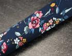 Stoff - Satin - Blumen - Blüten - Eastern Nights - Milliblus - Nachtblau