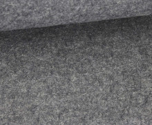 Wolle - Walkstoff - Uni - Grau Meliert