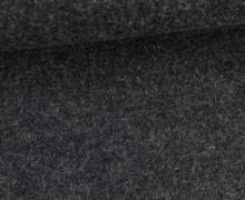 Wolle - Walkstoff - Uni - Dunkelgrau Meliert