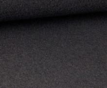 Wolle - Walkstoff - Uni - Schwarz