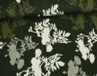 Jacquard - Abstrakte Blumen - Elastisch - Secret Garden - Milliblus - Olivgrün Dunkel