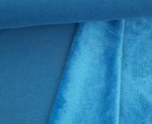 Alpenfleece - Kuschelstoff - Uni - Meerblau