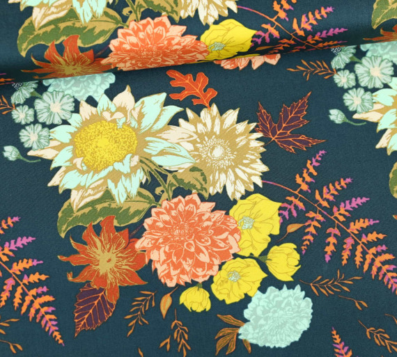 Art Gallery Baumwolle Autumn Vibe Blumen Floral Glow Twilit