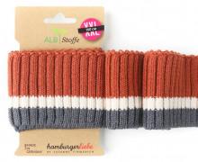 Bio-Bündchen - Cozy Stripes - Botanical - XXL - Cuff Me - Hamburger Liebe - Rostorange