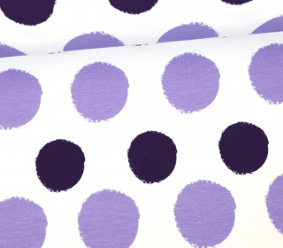 Jersey - Painted Dots - Punkte - Violett - Living for Fabrics