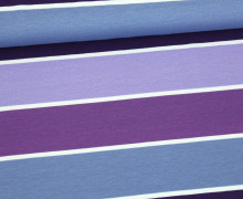 Jersey - Blockstreifen - Stripes - Violett - Living for Fabrics