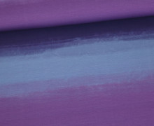 Jersey - Aquarell Verlauf - Color Gradient - Violett - Living for Fabrics