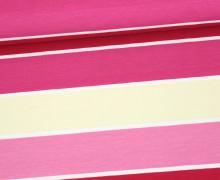 Jersey - Blockstreifen - Stripes - Magenta - Living for Fabrics