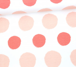 Jersey - Painted Dots - Punkte - Lachsrosa - Living for Fabrics