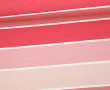 Jersey - Blockstreifen - Stripes - Lachsrosa - Living for Fabrics