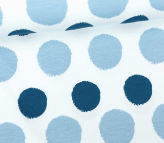 Jersey - Painted Dots - Punkte - Blau - Living for Fabrics