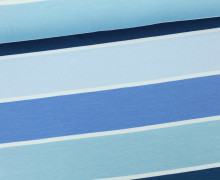 Jersey - Blockstreifen - Stripes - Blau - Living for Fabrics