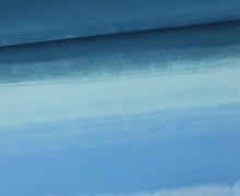 Jersey - Aquarell Verlauf - Color Gradient - Blau - Living for Fabrics