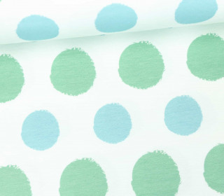 Jersey - Painted Dots - Punkte - Hellblau - Living for Fabrics