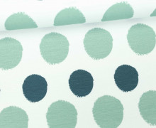Jersey - Painted Dots - Punkte - Petrol - Living for Fabrics