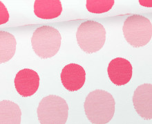 Jersey - Painted Dots - Punkte - Pink - Living for Fabrics