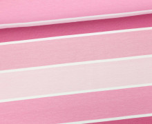 Jersey - Blockstreifen - Stripes - Pink - Living for Fabrics