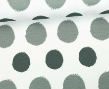 Jersey - Painted Dots - Punkte - Zementgrau - Living for Fabrics